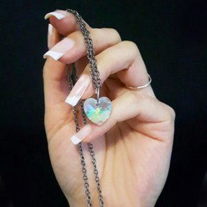 Jewelry - Crystal AB Heart Necklace